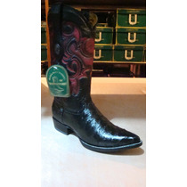 Bota Vaquera Y Cinto Avestruz Original Blackcherry