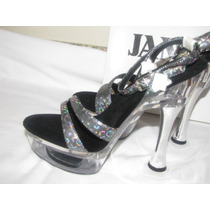 Zapatillas Sexys Table Dance Stripper Bailarina No. 24 Mex