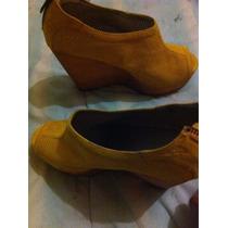 Zapatos Para Dama Amarillos De Gamuza (soy Nuevo Vendedor)