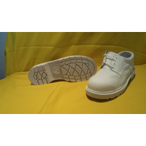 Zapato Choclo Blanco C/casco Acero Suela Hule Antiderrapante