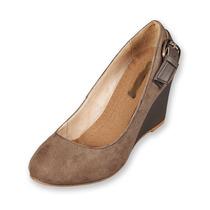 Zapato De Tacón Color Taupe Para Dama Del 23 Al 27.