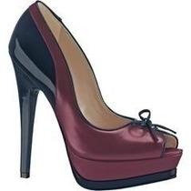 Zapatillas Zapatos Sandalias Andrea Purpuras Con Azul Piel