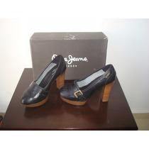 Zapato Tacon Pepe Jeans Negro No. 4