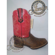 Bota Rodeo Rosa/café Junior Cowboy Envió Gratuito.