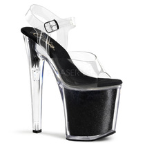 Zapatillas Transparentes Extremas 20cm Tacon Xtreme-808g