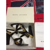 Exclusivas Sandalias Del Diseñador Marc Jacobs Num. 5 Negras