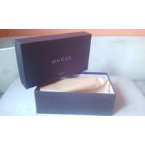 Gucci Caja Para Zapatos Cafe Grande Exelente