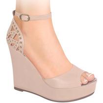 Zapatillas Dama Corte Tipo Napa 11cms 131028 Sn1