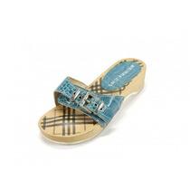 Sandalias Azules Burberry
