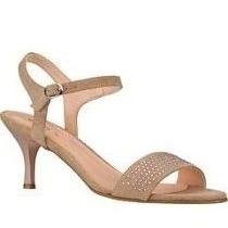 Oferta Elegantes Zapatillas Andrea Beige De Gamuza De Piel