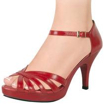 Zapatillas Dama Corte Piel Cabra 9cms 118490 Sn1