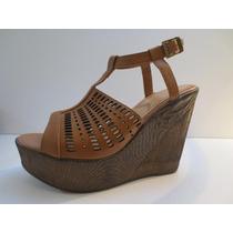 Sandalias Para Dama Plataforma, Camel, Levis Rudos