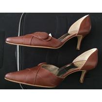 Zapatos De Tacón Mujer Andrea Café Nuevos Envío Gratis!!!