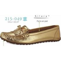 Flats Hilary Para Dama Color Oro En Piel V