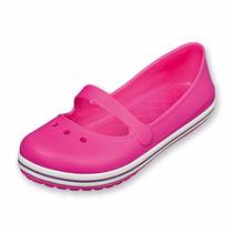 Zapatos Tipo Crocs Color Fiusha Para Niña Del 15 Al 22.