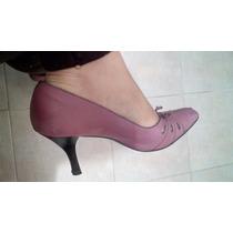Zapatos Comodos Palo De Rosa Andrea Piel Talla 4