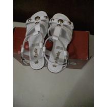 Sandalias Para Niña, Talla 22 Mx, Color Blanco, Hermosos !