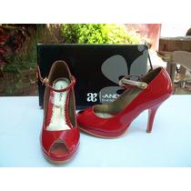 Zapatos Andrea Rojos Tacon Alto