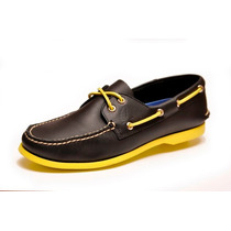 Zapato De Piel Top Sailer Modelo Negro 1301