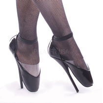 Zapatillas Negras De Charol Tipo Bailarina De Ballet-12