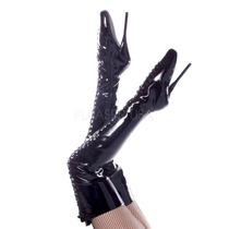 Botas Largas Fetish De Charol Y Piel Bailarina Ballet-3020