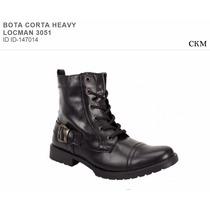 Bota Corta Heavy Locman 3051 Hipster Rock Envio Gratis