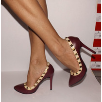 Zapatillas Finas Tacon 10cm No Valentino Loubotin Lv Gucci