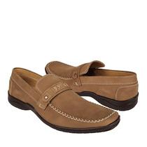 Stylo Zapatos Caballero Casuales 0108 5-9 Nobuck Camel
