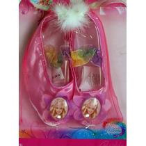 Barbie Zapatillas De Ballet De Tela Para Niñas Pequeñas