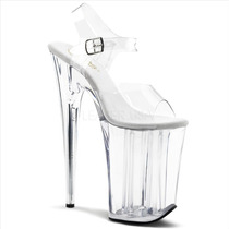 Zapatillas Extremas Transparentes 23cm Tacon Infinity-908