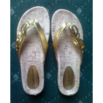 Sandalia Color Oro Super Fashion