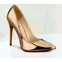 Zapatillas Clasicas, Cobre Espejo, 11 Cm