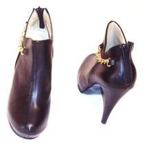 Botin Botas Piel Calzado Dama Moda Actual Confort Elegancia