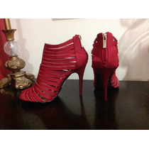 Zapatillas Dollhouse Gladiador Rojas Sexy Elegantes Fashion