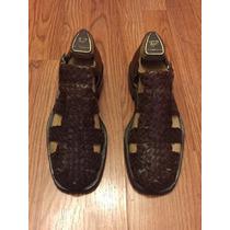 Zapatos Italianos De Piel(tipo Sandalias)