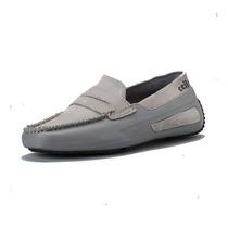 Izcar Acosta Zapato Mocasin Gris/negro Calzado Hombre Ccilu