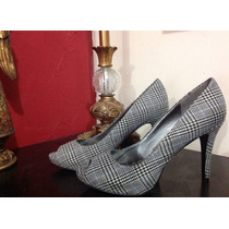 Zapatilla Nine West Peep Toe Estampado Vintage Elegante Nice