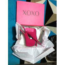 Zapatillas~pumps~heels~xoxo~fushia/gris~sexy~elegantes-tacon