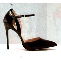 Zapatillas Maryjanes, Negras, 11 Cm
