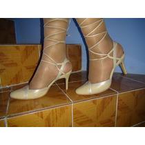 Zapatillas Andrea De Color Beige Talla 25.5