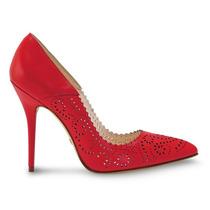 Zapato Zapatillas Rojos Andrea 2284880 Piel Tacón 11cm