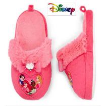 Pantuflas 16.5 Y 18 Cms. Disney Princesas Rosas Nina Ve