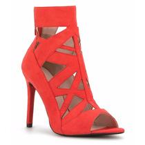 Zapatos Zapatillas Andrea Rojas Tipo Gamuza Botines Abiertos