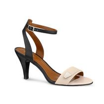 Zapato Sandalia Andrea 210-8247 Negro Con Beige Tacón Bajo
