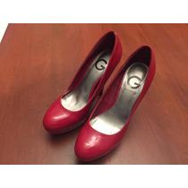 Tacones Mujer Rojos Guess Zapatos Bolso Blusa Perfume Collar