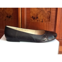 Zapatos Flats Talla Grande 9 Mexicano Negro Interior Piel