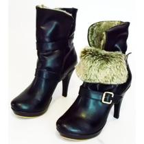 Botin Botas Calzado Dama Moda Piel Confort Y Elegancia