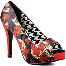 Zapatillas Iron Fist Slow Dance Plataforma Pin Up Tattoo