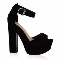 Calzado Para Dama Plataformas Alto 15 Cms
