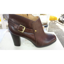 Botin Cafe 100% Piel Nine West Talla 6.5 Americano 3.5 Mex